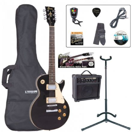 Encore E99 Electric Guitar Pack Gloss Black